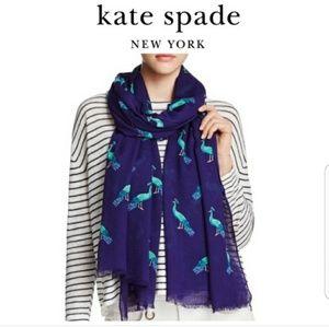 Kate Spade Peacock Print Wrap Scarf